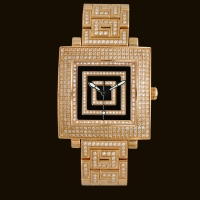 Quadrato Gold Dial1 Diamond Bracelet